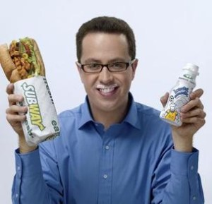 Jared Fogle milk mustache