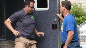 Jared Fogle steps out of van